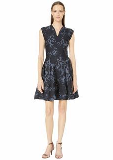 Zac Posen Floral Jacquard Dress