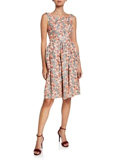 Zac Posen Floral Tulip Skirt Fit-and-Flare Dress