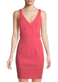 Zac Posen Gemma V-Neck Sheath Dress