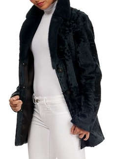 Zac Posen Kid Lamb Shearling Jacket w/ Mink-Fur Collar
