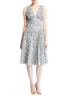 Zac Posen Liberty Cotton Sleeveless Dress