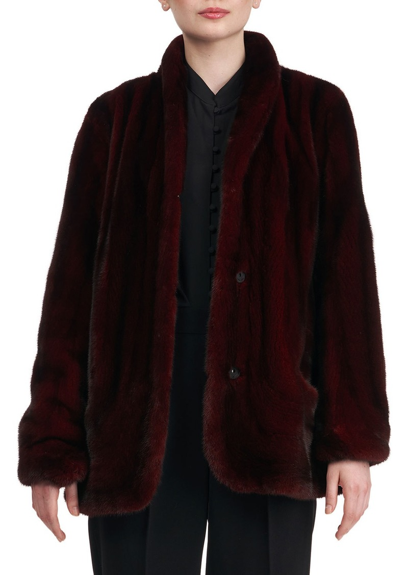 Zac Posen Mink Fur Jacket w/ Rounded Front