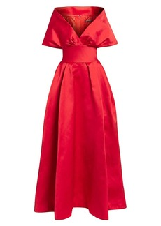 Zac Posen Off-The-Shoulder Duchess Satin Ball Gown