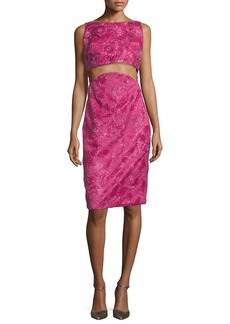 Zac Posen Patterned Two-Part Cropped Dress