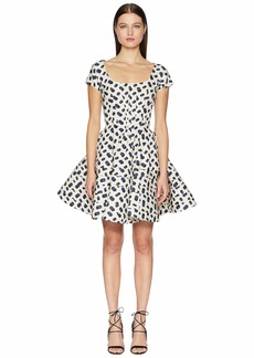 Zac Posen Polka Dot Printed Dress