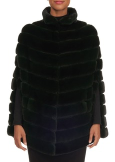 Zac Posen Quilted Mink Fur Cape