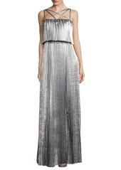 Zac Posen Ribbed Floor-Length Dress