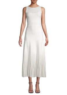 Zac Posen Ribbed Midi Dress