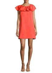 Zac Posen Ruffled Woven Dress
