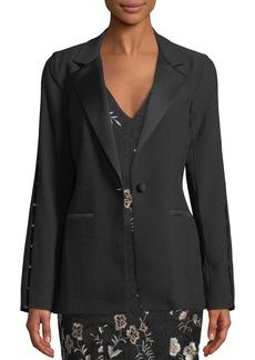 Zac Posen Sasha Ladder-Sleeve Blazer Jacket
