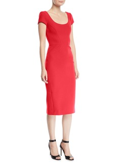 Zac Posen Scoop Neck Short Sleeve Dress