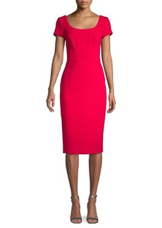Zac Posen Short-Sleeve Sheath Dress