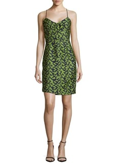 Zac Posen Sleeveless Floral-Print Sheath Dress