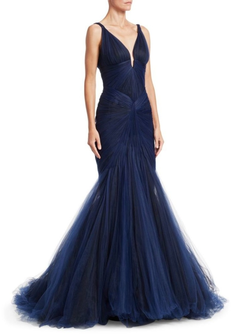 6d0395056f00 Zac Posen Sleeveless Tulle Mermaid Gown | Dresses