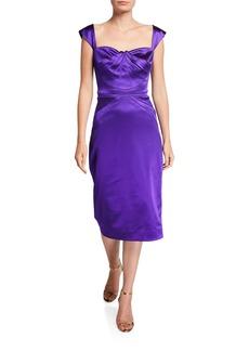 Zac Posen Square-Neck Cocktail Dress