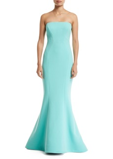 Zac Posen Strapless Crepe Mermaid Gown