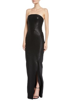 Zac Posen Strapless Shimmered Straight Gown
