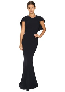 Zac Posen Stretch Cady Capelet Gown