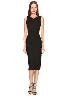 Zac Posen Stretch Cady Sleeveless Tea Length Dress