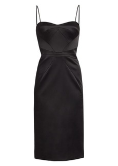 Zac Posen Stretch Satin Sheath Dress