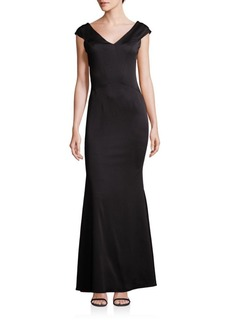 Zac Posen V-Neck Bodycon Fit Dress