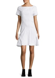 Zac Posen Bateau Neckline Woven Shift Dress