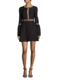 Zac Posen Bell Sleeve Lace Dress
