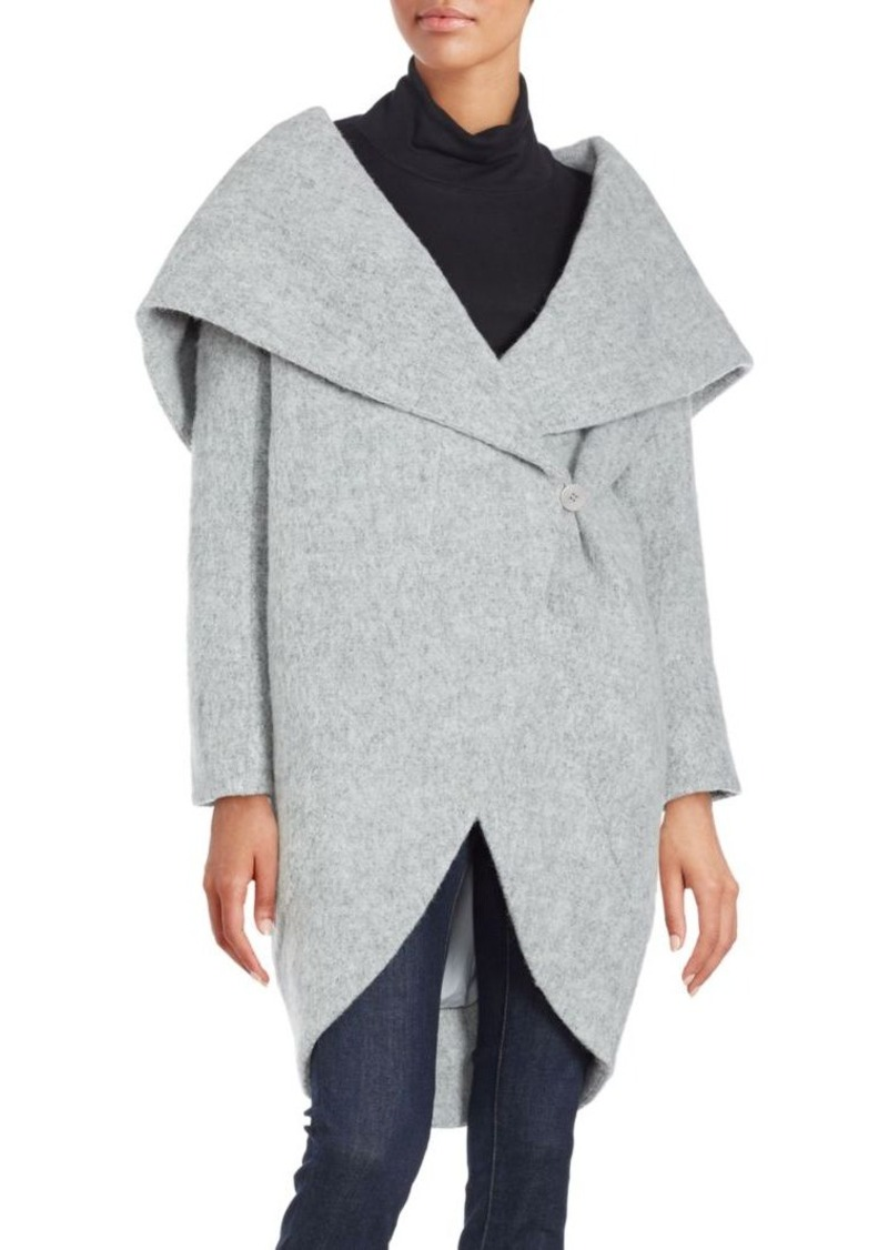 Zac Posen Camilla Wool-Blend Wrap Coat