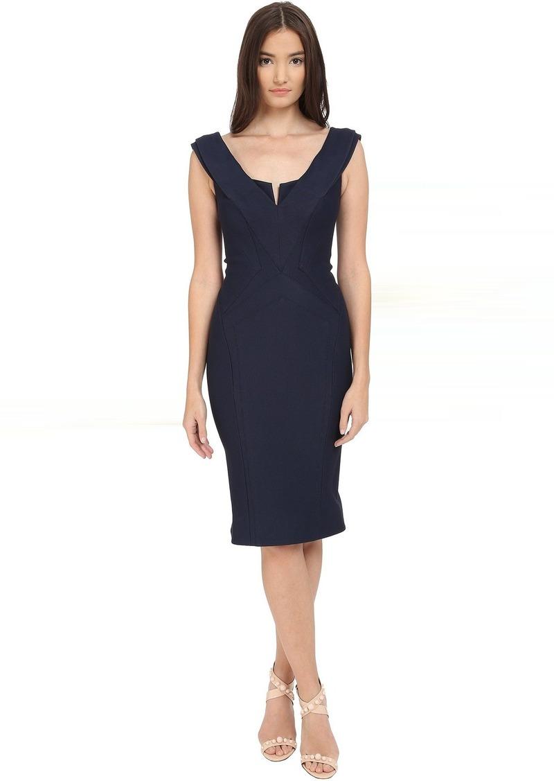 Zac Posen Zac Posen Cap Sleeve Bondage Jersey Dress | Dresses