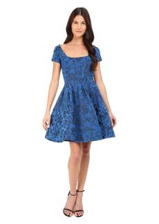 Zac Posen Cap Sleeve Fit & Flare Dress