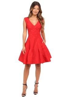 Zac Posen Classic Silk Faille A-Line Dress