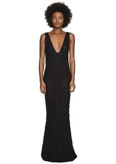Zac Posen Dandelion Lace Knit Sleeveless Maxi Dress
