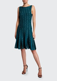 Zac Posen Embroidered Jersey Cocktail Dress