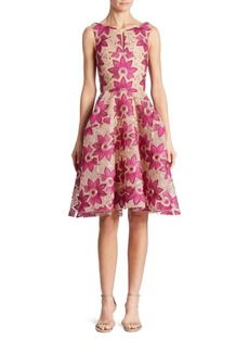 Zac Posen Floral Embroidered Dress