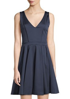 Zac Posen Lori Lace-Up-Back Fit-and-Flare Cocktail Dress