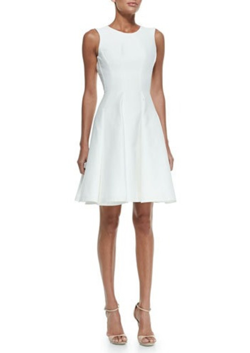 Zac Posen Scoop-Back Pleat-Front Dress