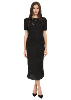 Zac Posen Silk Crochet Short Sleeve Dress