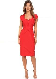 Zac Posen Silk Faille Cap Sleeve Dress