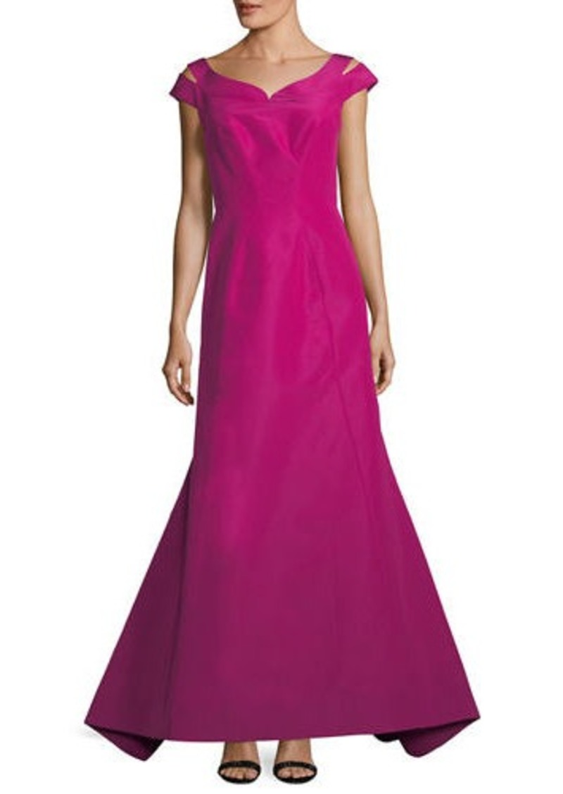 Zac Posen Zac Posen Silk Faille Cap-Sleeve Evening Gown | Dresses