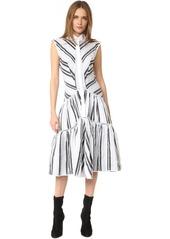 Zac Posen Sleeveless Button Down Dress