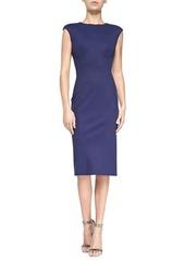 Zac Posen Sleeveless Jewel-Neck Fitted Dress