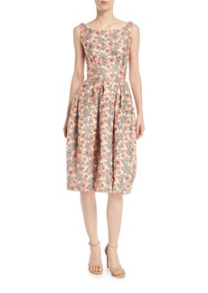 Zac Posen Sleeveless Scoop-Neck Bonded-Lace Dress