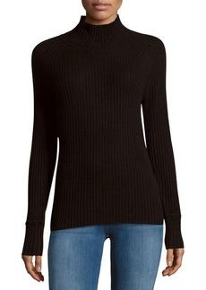 Zac Posen Solid Turtleneck Cashmere Sweater
