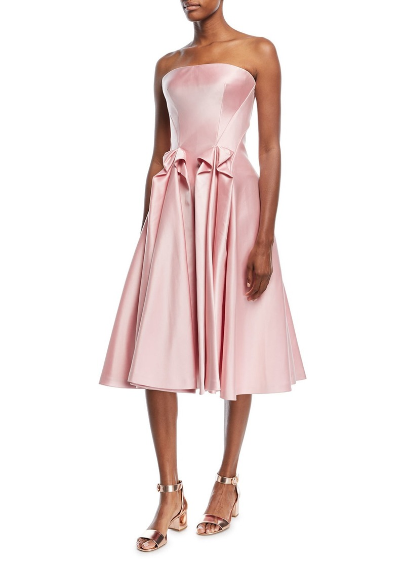 Zac Posen Zac Posen Strapless Double-Face Duchess Satin Tea-Length ...