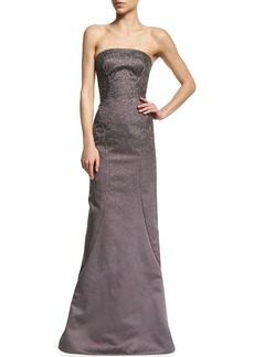 Zac Posen Strapless Embellished Gown