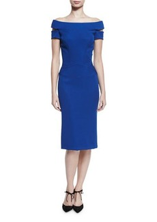 Zac Posen Strappy Off-the-Shoulder Cocktail Dress