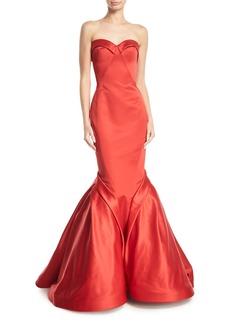 Zac Posen Sweetheart Trumpet Duchess Evening Gown