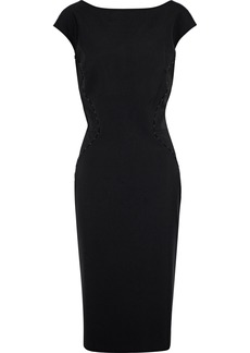 Zac Posen Woman Bead-embellished Silk-blend Ponte Dress Black