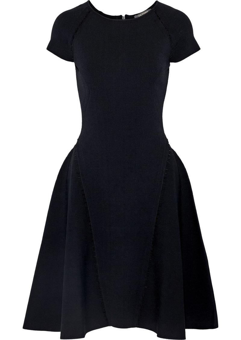Zac Posen Woman Cutout Embellished Stretch-ponte Dress Black