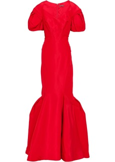Zac Posen Woman Flared Duchesse Silk-satin Gown Red